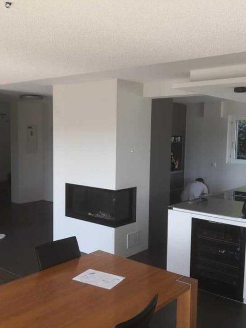 Wohnungssanierung Weissputzwaende Und Decken Akkustikdeckensegel