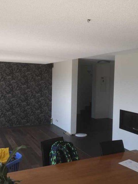Wohnungssanierung Weissputzwaende Und Decken Akkustikdeckensegel 2