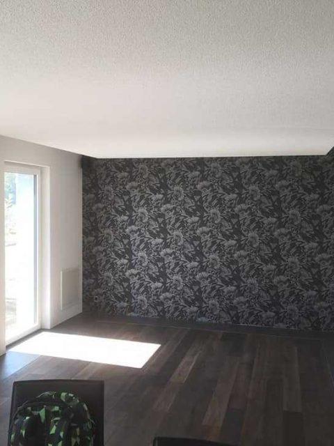 Wohnungssanierung Weissputzwaende Und Decken Akkustikdeckensegel 4